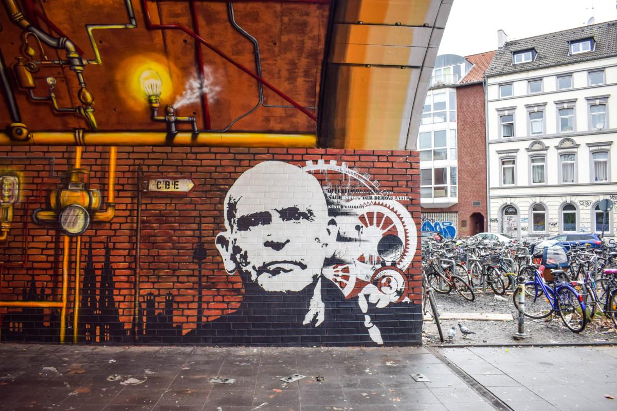 Cologne street art Ehrenfeld station