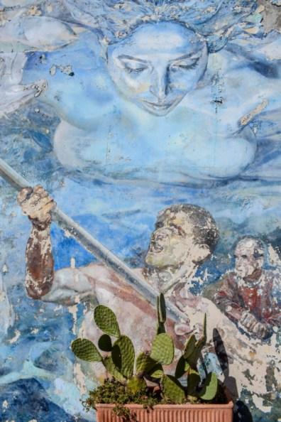 Riomaggiore street art Cinque Terre Italy