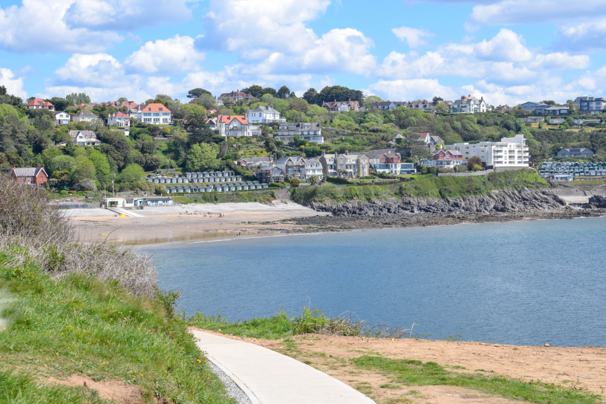 Gower hikes Wales Langland Bay