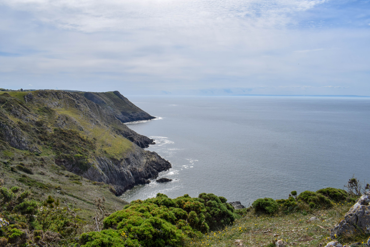 Pennard cliffs hike to Pobble Bay