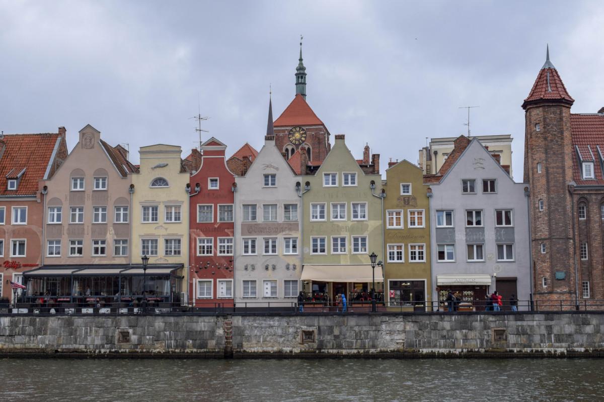 Gdansk river old town
