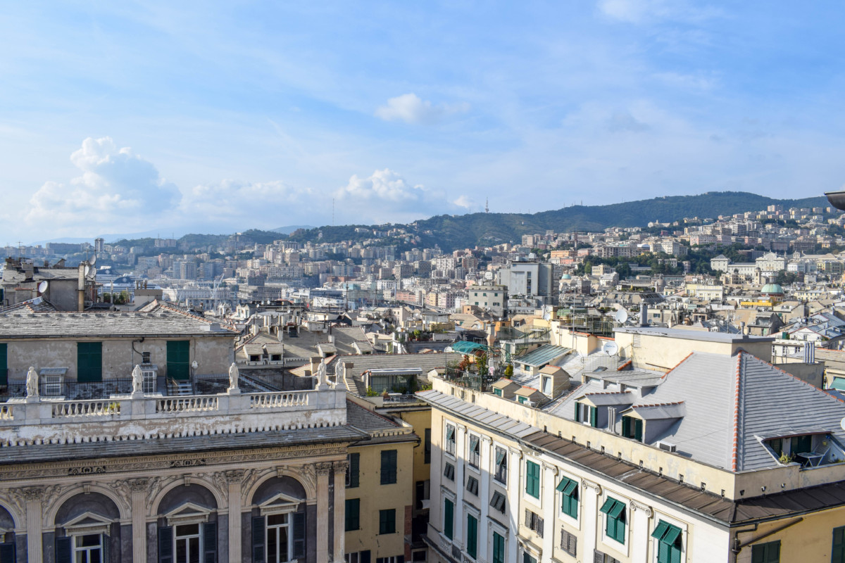 Genoa Cathedral Italy Tower views