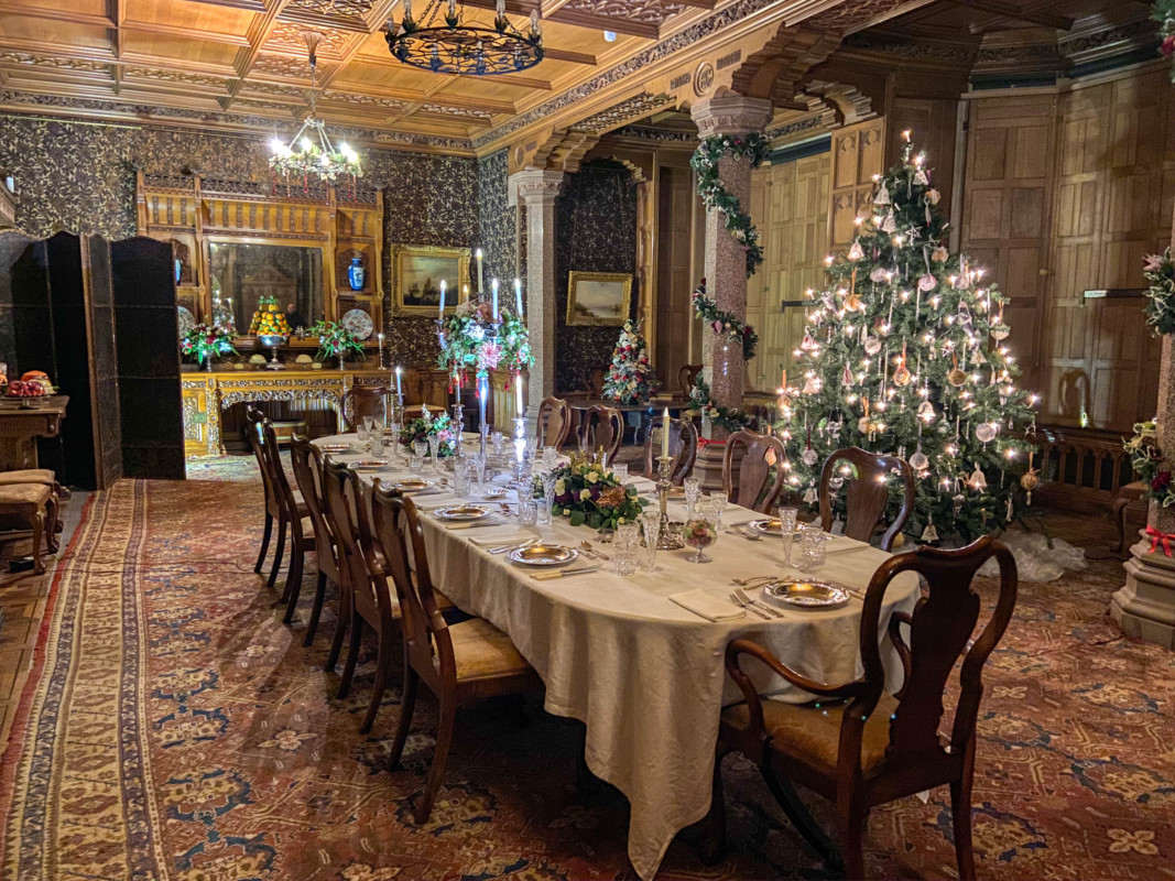 Dining Room at Tyntesfield A Very Victorian Christmas National Trust Christmas in Bristol