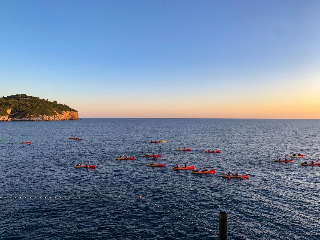 Short breaks Dubrovnik sunset at Buza Bar kayakers