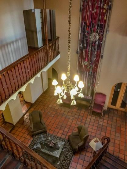 Hotel Rosario La Paz courtyard - where to stay in La Paz
