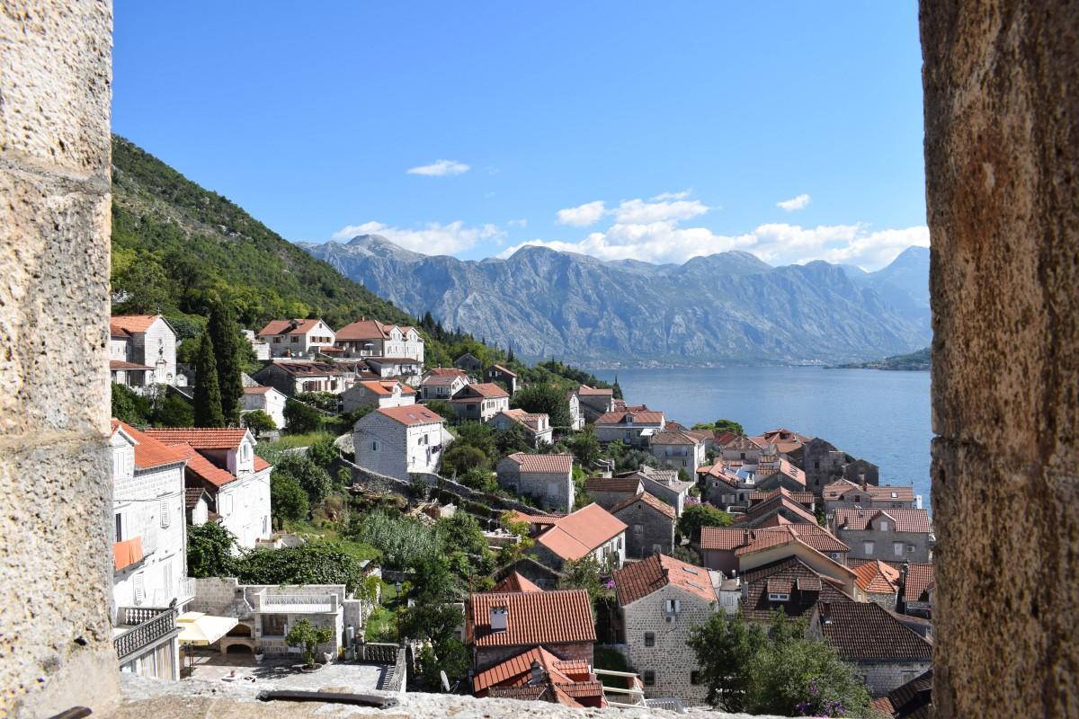 Perast bell tower Montenegro