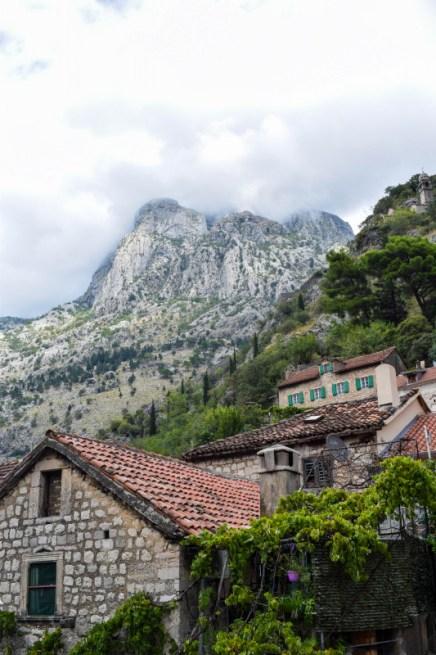 Kotor old town walls Montenegro
