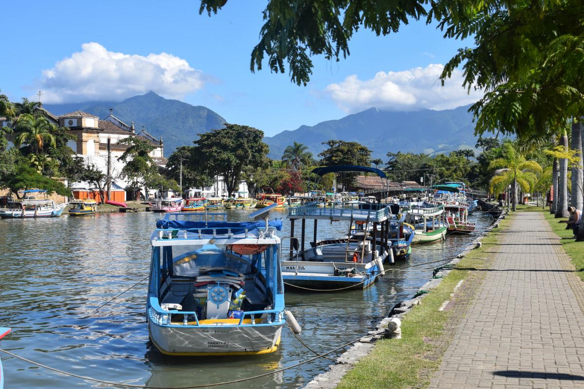 Paraty boats Brazil