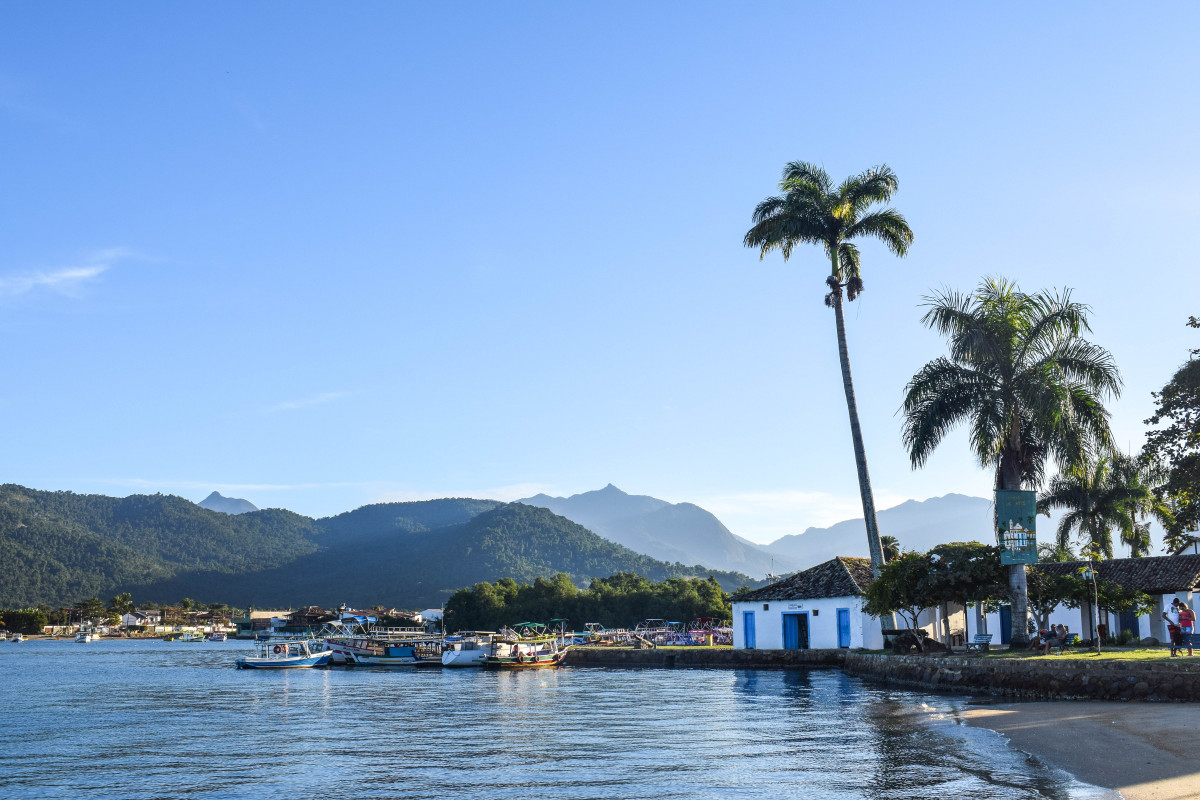 Paraty waterfront Brazil