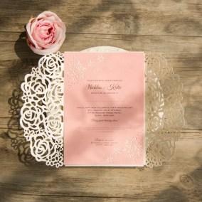 esempio di stampa digitale su cartoncino rosa