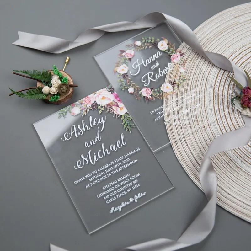 Partecipazioni Matrimonio Wedding.Partecipazioni Matrimonio Laser Inviti Nozze Realizzati Con La