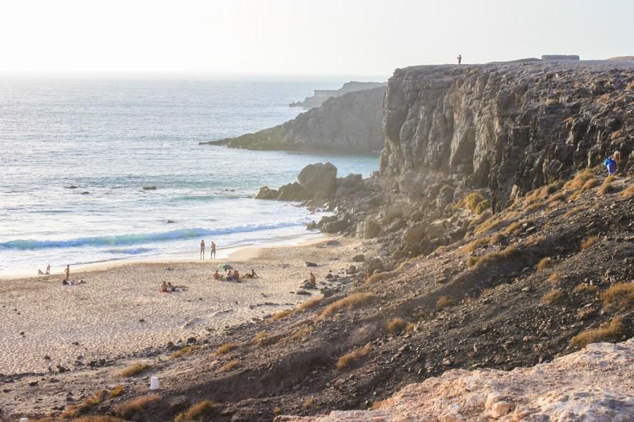 Spiaggia de El Cotillo vista dalla scogliera
