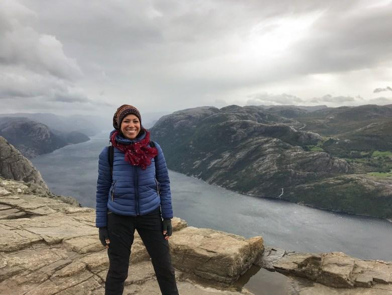 Foto che ritrae me sul Pulpit Rock, Norvegia