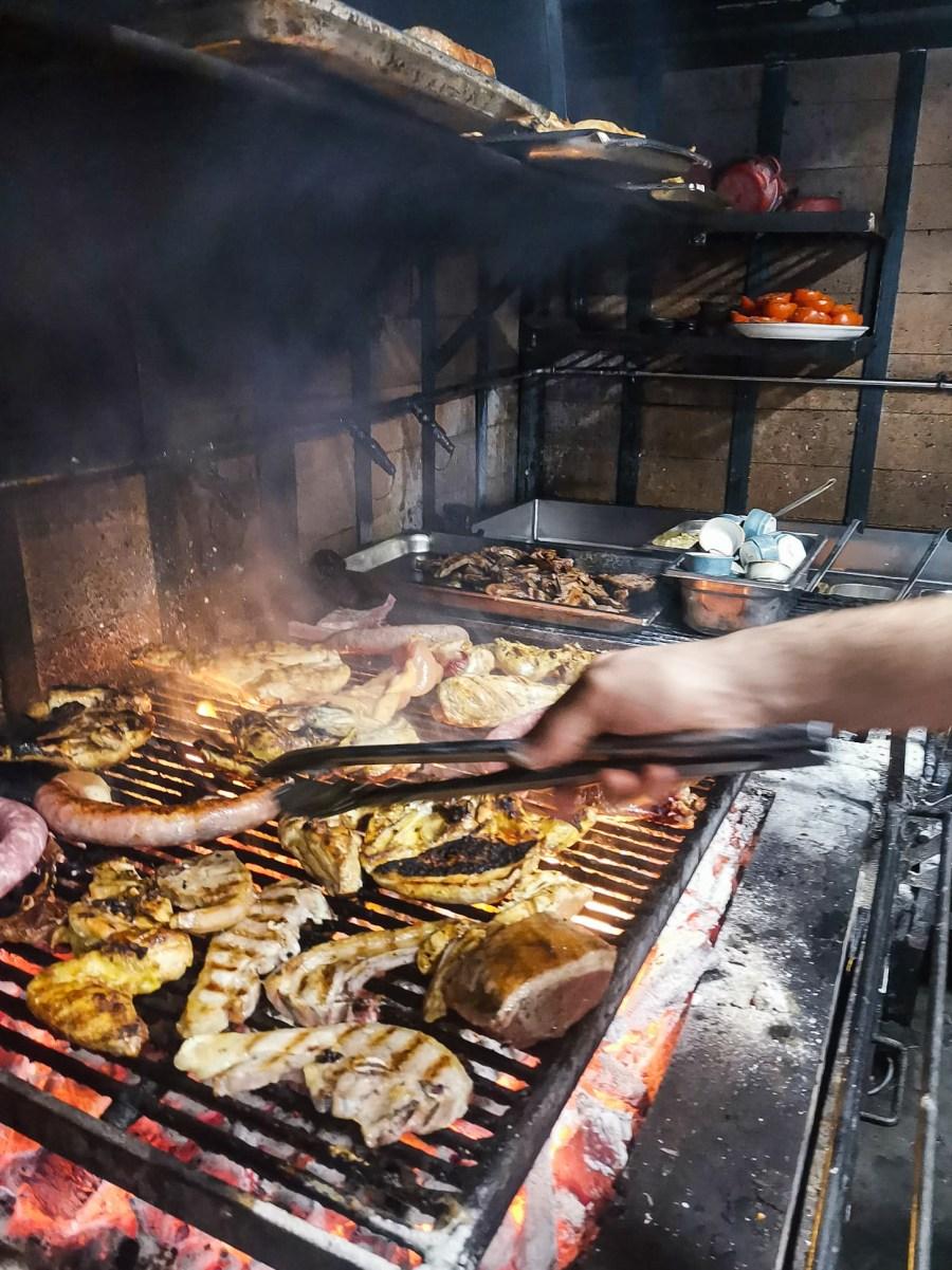 Parrillada al Mussol per la Calçotada dell'anno (carne alla brace), Barcelona - Catalogna