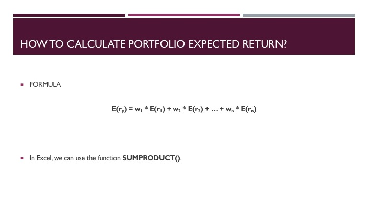 Evaluating a Mutual Fund Portfolio - Slide 5
