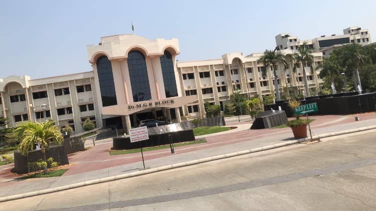 At Vellore Institute of Technology Main Gate