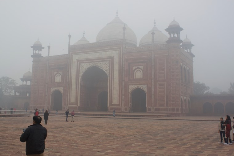 Around the Main Mausoleum of Taj Mahal