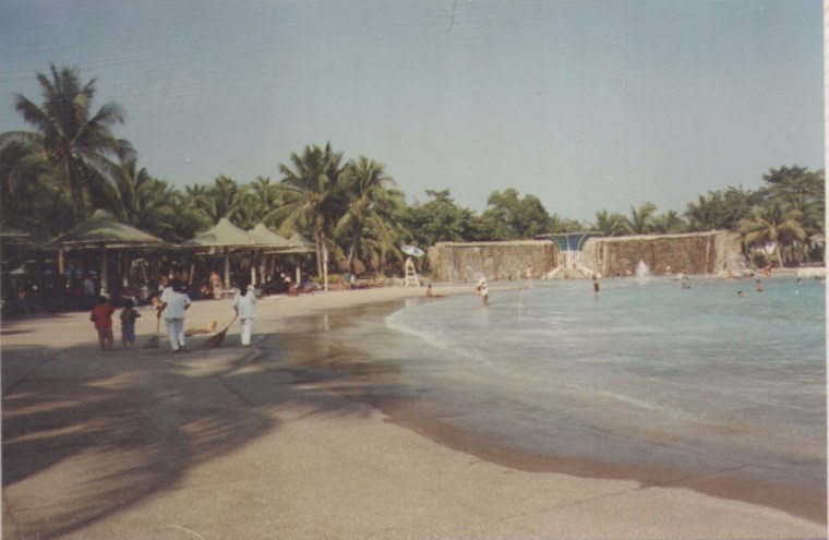 Artificial Beach and Waterfall in Siam Park