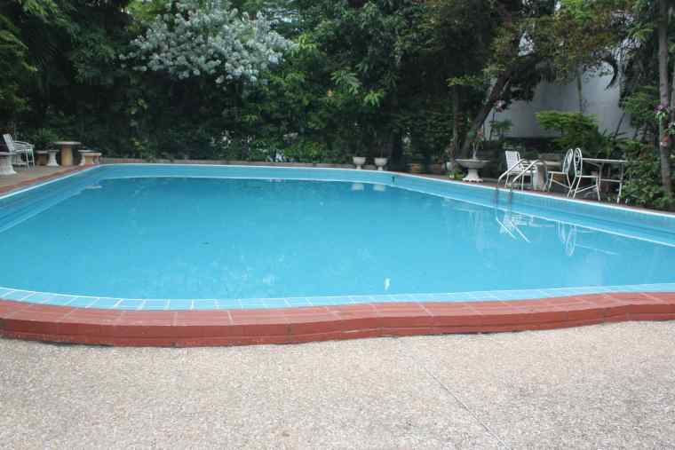 Swimming Pool at P&P Grand Residence. At the deep end, the Pool was about 10 feet deep.