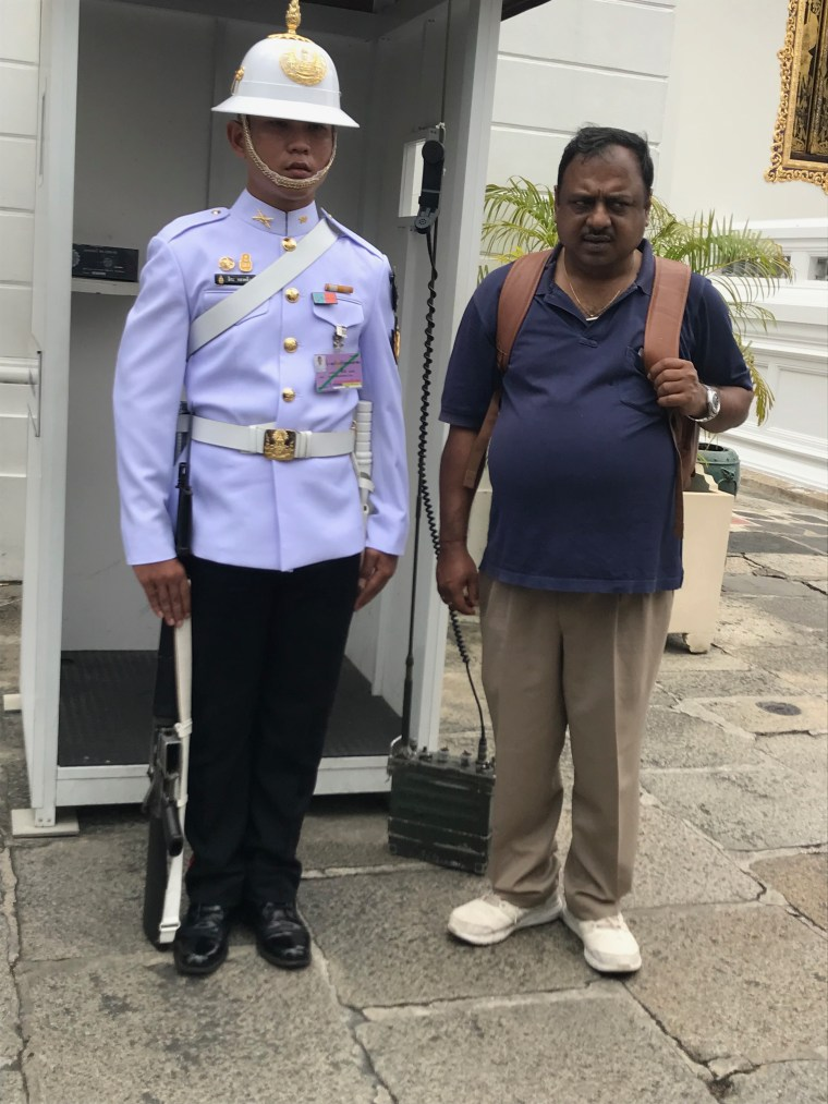 Posing with the Guard