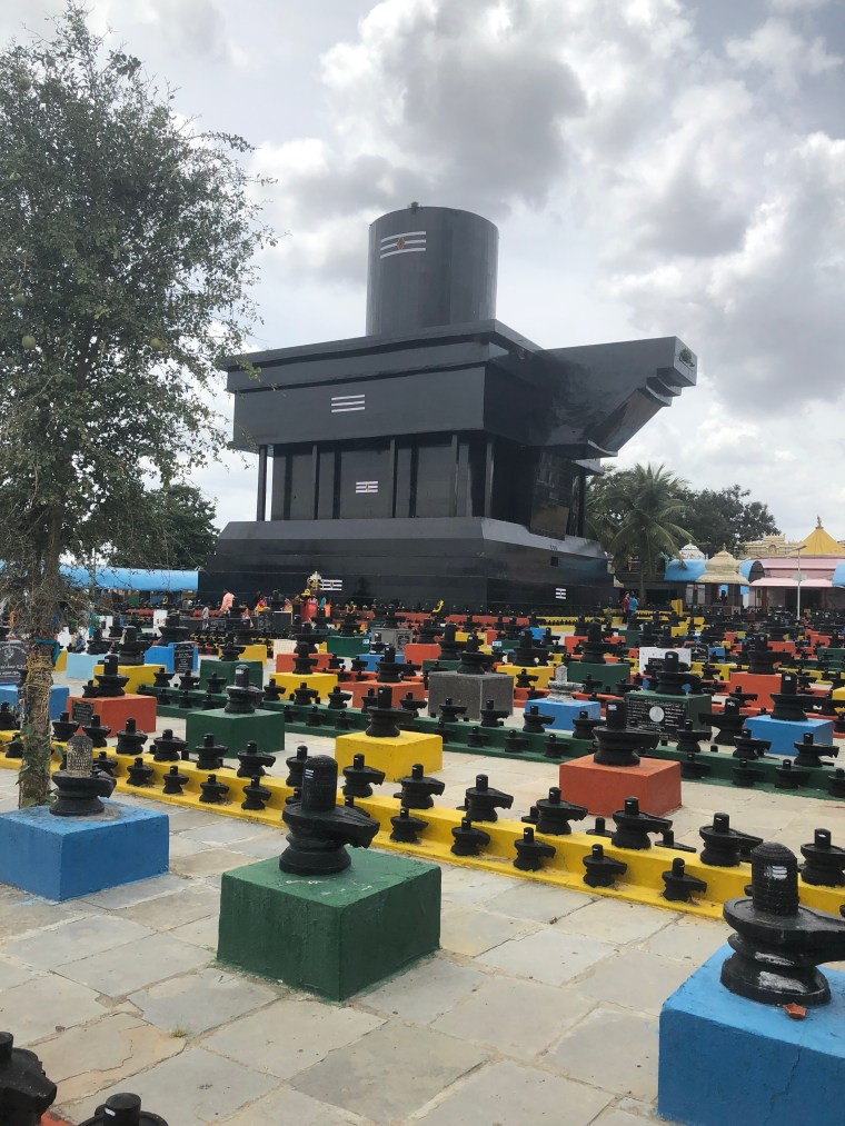 Huge Shiva Linga from another angle