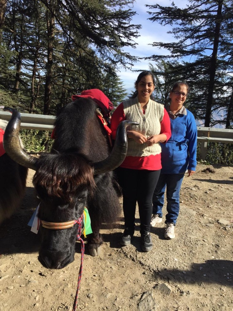 Deepshree and Ranoo with the Yak