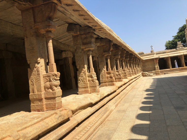 On entering the Lepakshi Temple