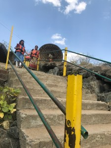 Steep Stairs before getting on to the Tappa again