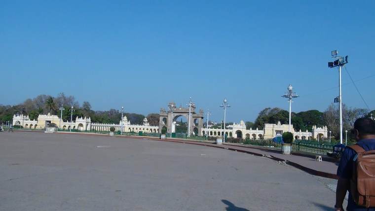 Another view of the Min Gate to the Mysore Maharaja Palace