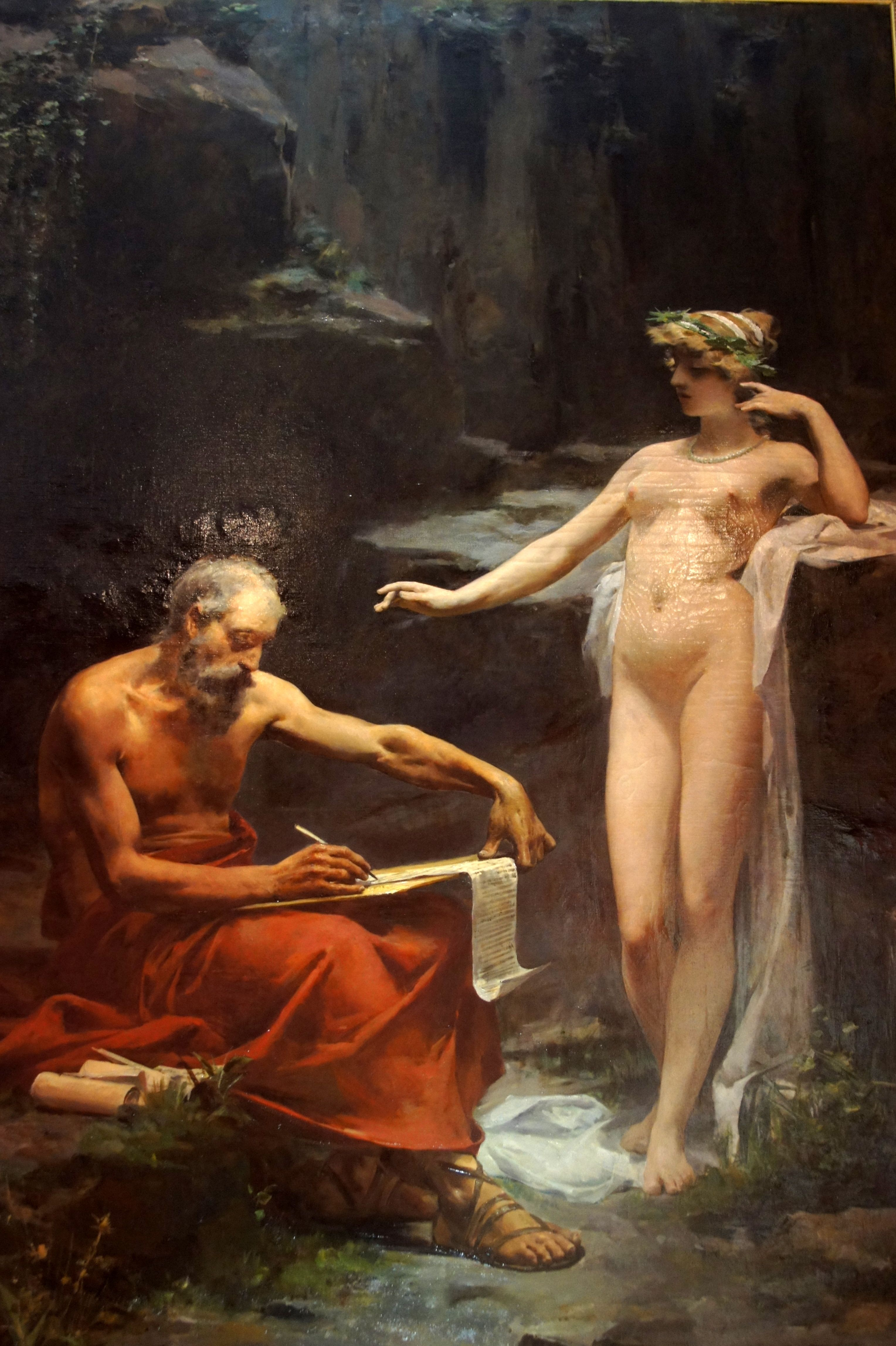 La ninfa Egeria dictando a Numa Pompilio las leyes de Roma