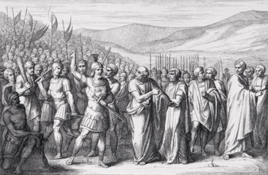 The Succession of the Plebs leading to the Formation of the Plebeian Tribunate Source: https://upload.wikimedia.org/wikipedia/commons/d/dd/Secessio_plebis.JPG