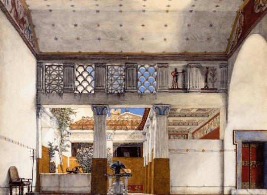 Alma Tadema 1907 'Interior of Caius Martius' House'
