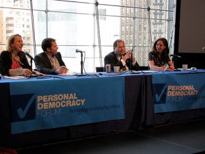 """Jerry Nadler joins Esther Dyson, Jamie Heywood and Susannah Fox to talk about """"From Participatory Politics to Participatory Medicine"""" at Personal Democracy Forum 2009"""
