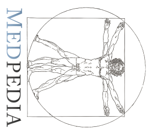 Medpedia logo tipped over