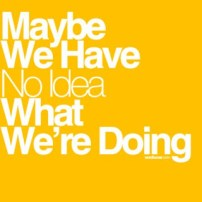 "Graphic ""Maybe we have no idea what we're doing"""