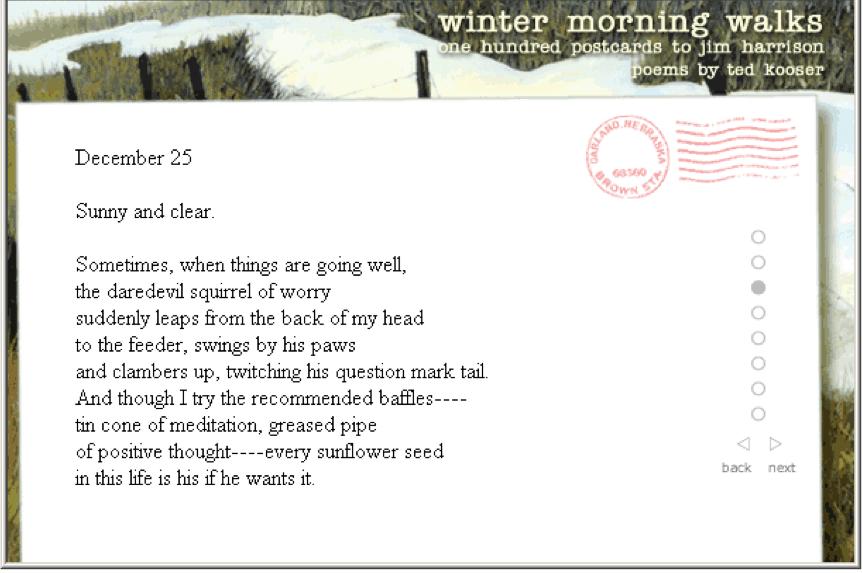 Postcard poem by Sally Kuzma