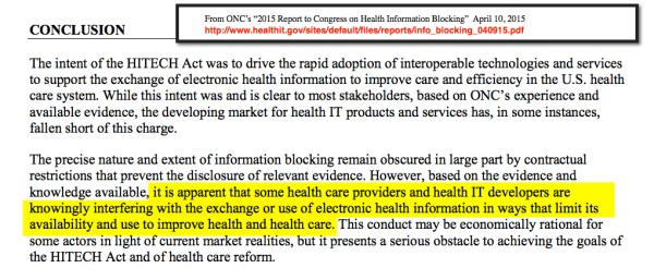 ONC April 10 report conclusion