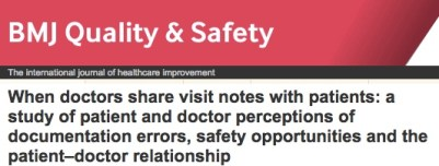 BMJQS OpenNotes headline