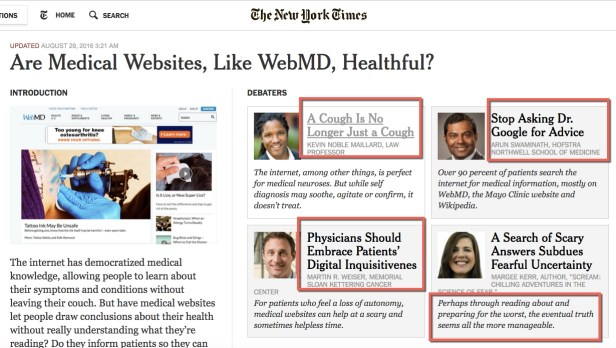 NYTimes medical websites