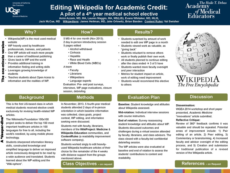 """WikiProject Medicine three years on: """"converting clinicians to active digital contributors"""""""