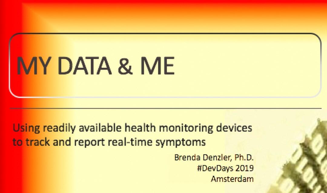 """My Data and Me"": Brenda Denzler's amazing story at #FHIRDevDays"