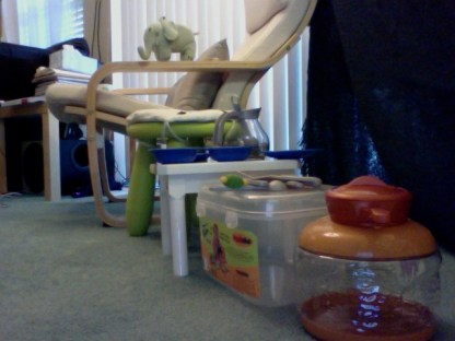 Impressed my little destruct-o toddler created this thought out composition...!