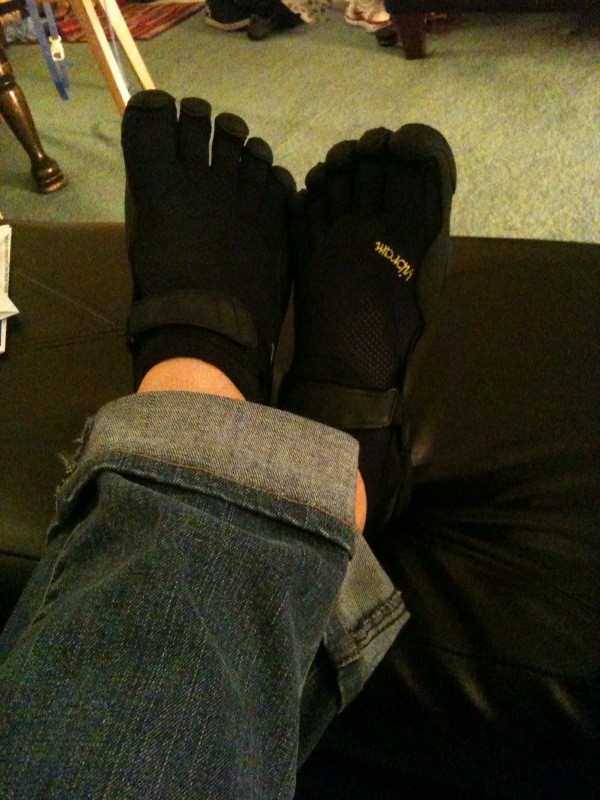 @bdayshoes @human3rror and I picked up some matching #vibram kso's today :)