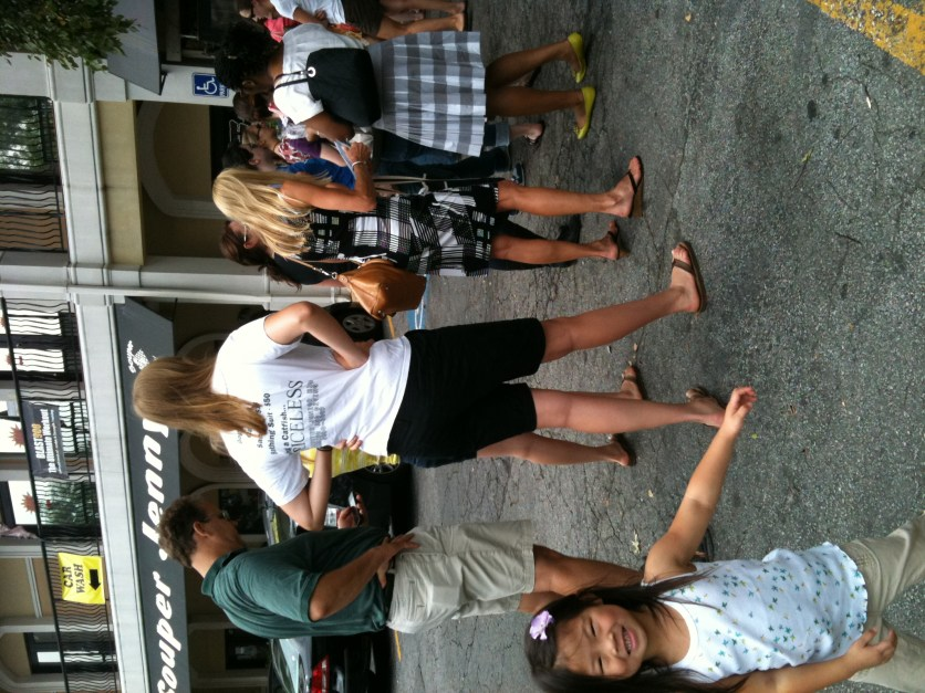The line @souperjennys! 1st day open after summer break..and free @kingofpops with lunch!!!!
