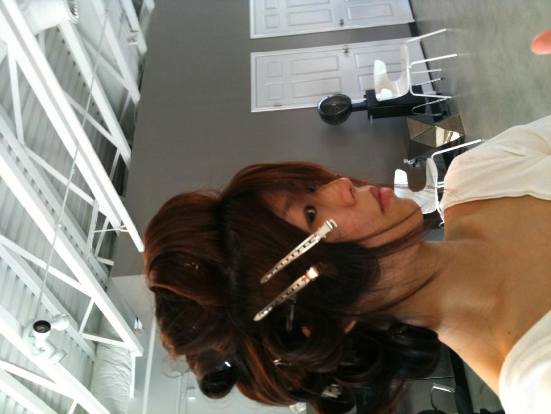 Style class with Lloyd! Pin curls: fun!