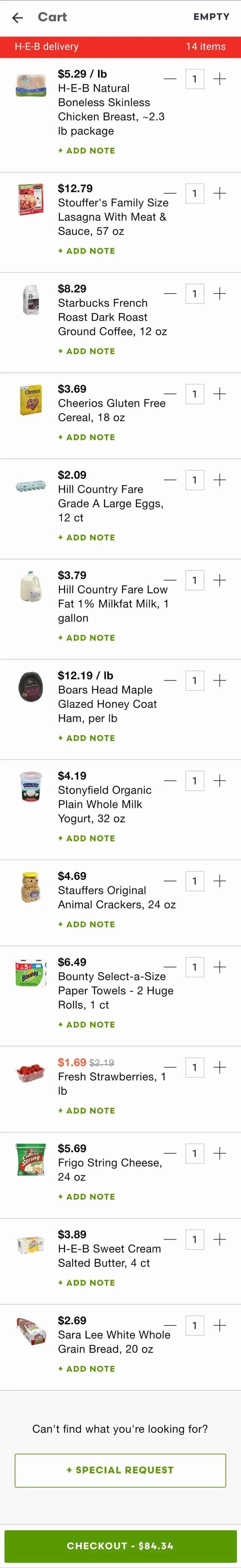Shipt prices