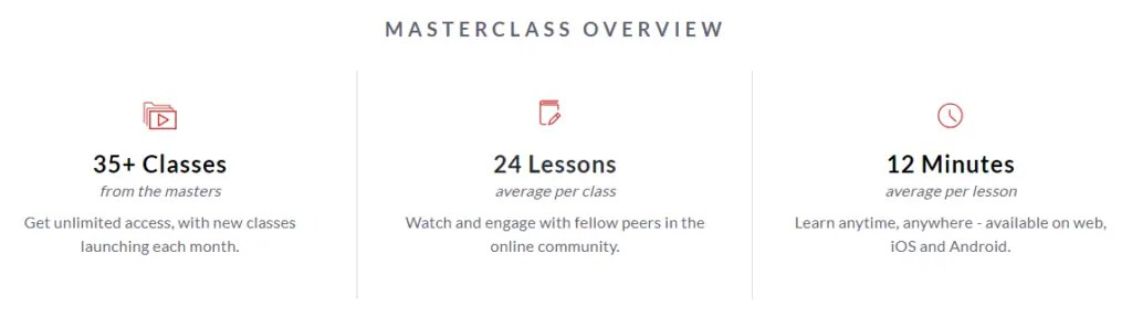Masterclass overview