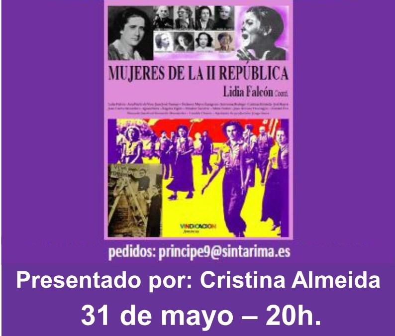 """31 Mayo – Presentación del libro """"Mujeres de la II República"""" en Las Palmas de Gran Canaria"""