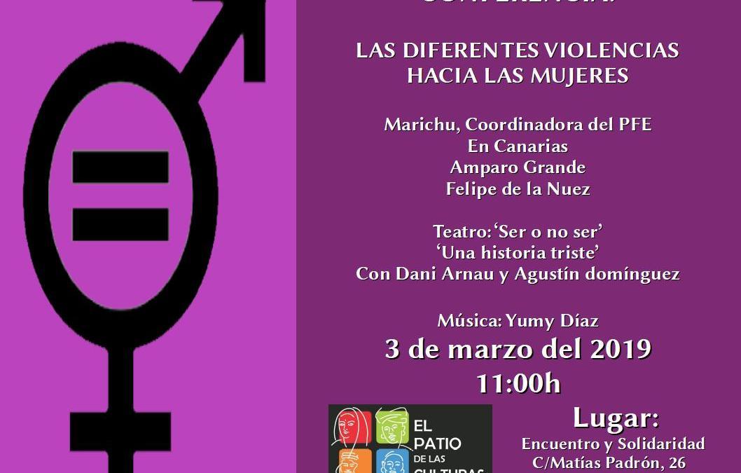 3 de Marzo – Conferencia: Las diferentes violencias hacia las mujeres