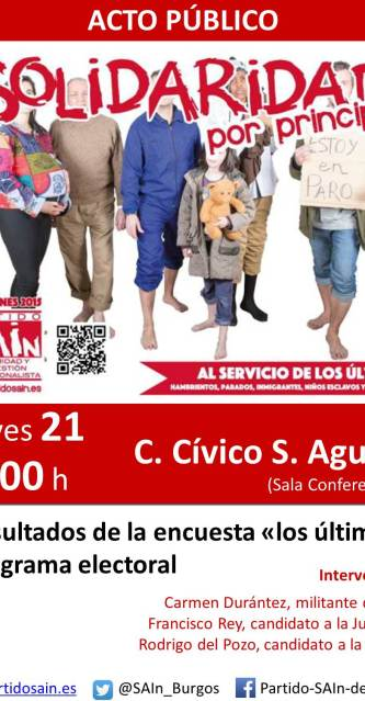 cartel acto publico